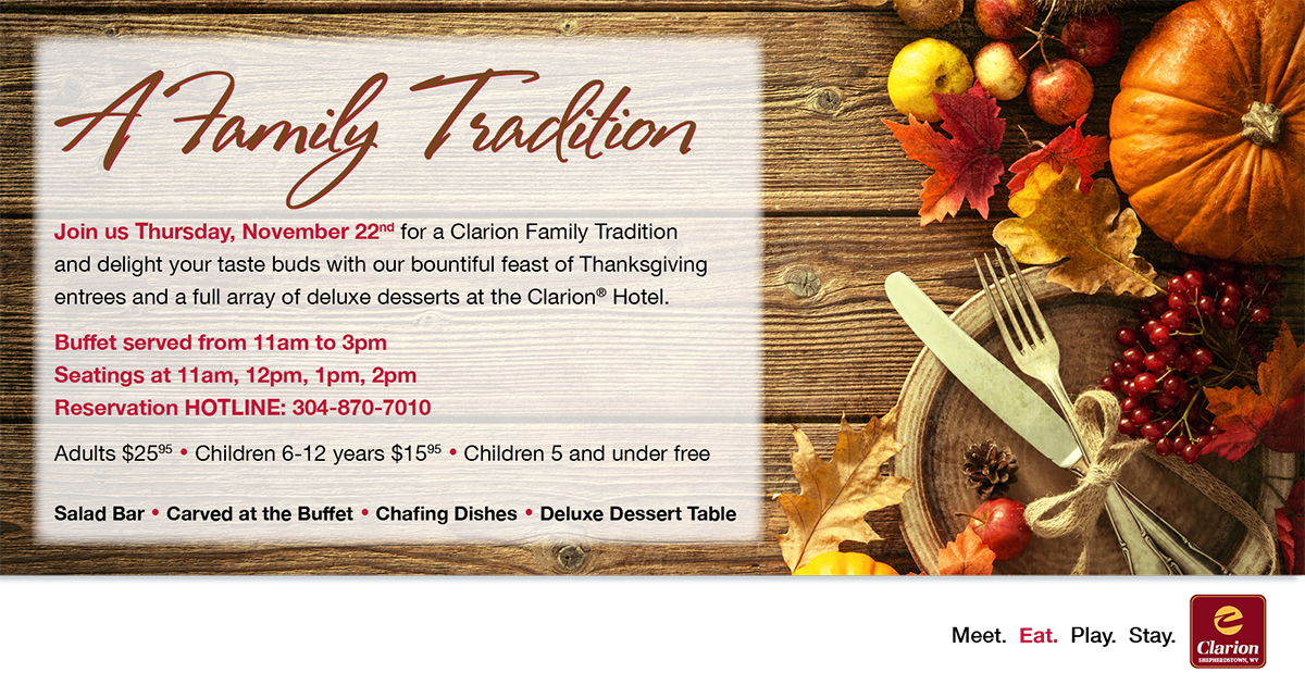 Thanksgiving Buffet - November 22nd