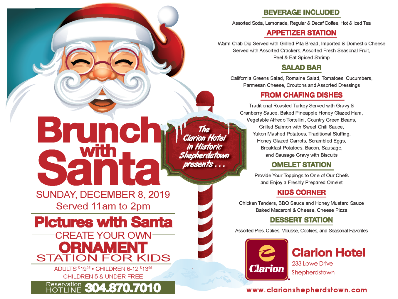 Brunch With Santa—December 8th